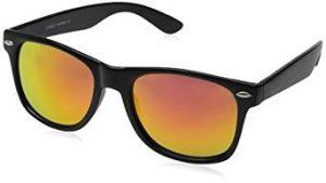 10. Flat Matte Reflective Flash Color Lens Sunglasses