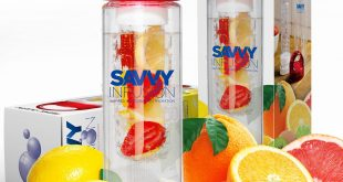 #1. Savvy Infusion Water Bottle