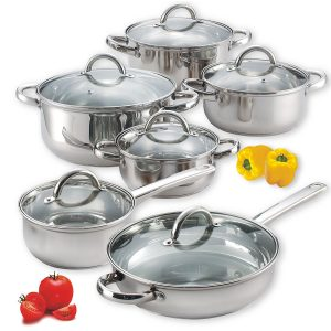 #4. Cook and Home Stainless Steel Set