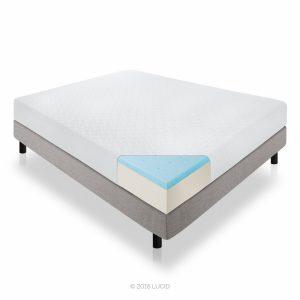 #6. LUCID 10 inch gel memory foam mattress