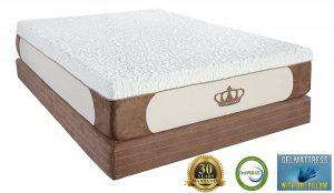 #9. Dynastymattress cool breeze memory foam mattress