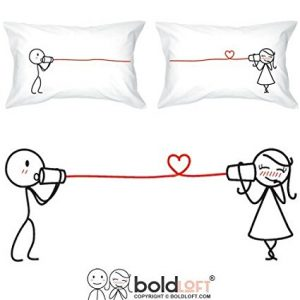 #10. BOLDLOFT Say I Love You Couples Pillowcases Valentine's Day Gifts for Girlfriend