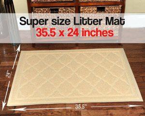 2. Easyology Premium Cat Litter Mat
