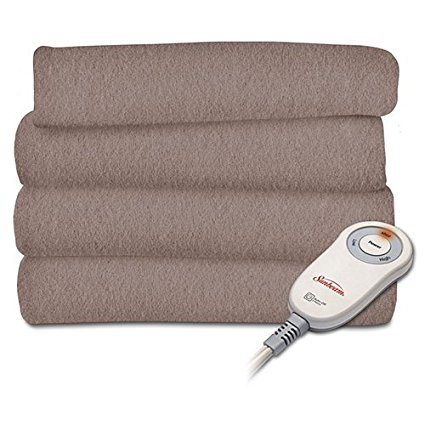 2. Sunbeam Heated Fleece Electric Blanket