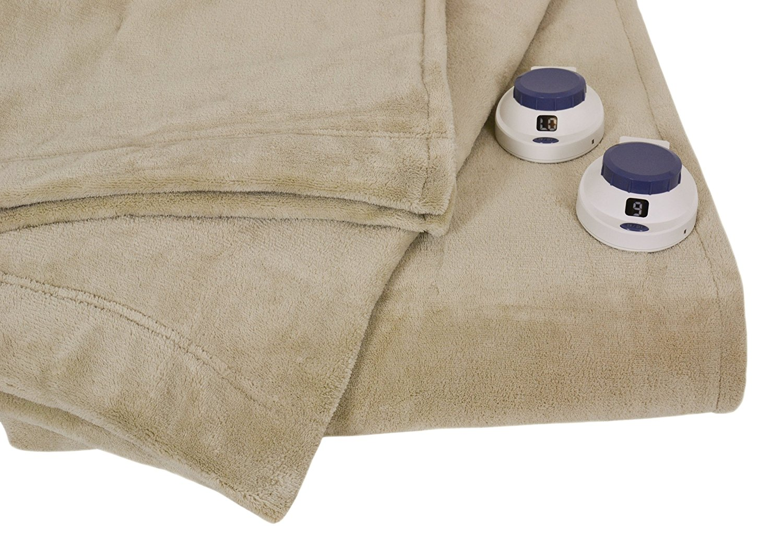 3. Serta Luxe Plush Low-Voltage Electric Heated Micro-Fleece Blanket