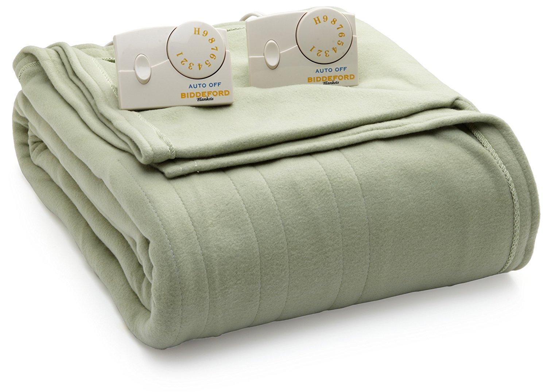 8. Biddeford Blankets Comfort Knit Heated Blanket