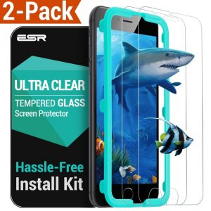 9. ESR [9H Tempered Glass iPhone 6 6S Screen Protector 2-Pack