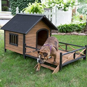 10.Large Dog House Lodge with Porch Deck Kennels