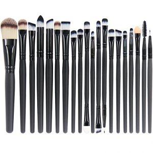 10. EmaxDesign 20 Pieces Makeup Brush Set