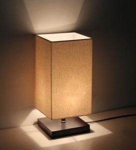 2. Minimalist Solid Wood Table Lamp
