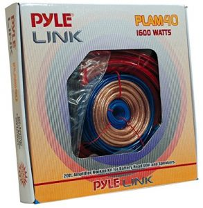 3. Pyle PLAM40 1600 Watt Amplifier HookUp Installation Kit