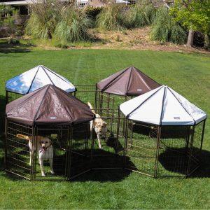 5. Advantek Pet Gazebo Modular Outdoor Dog Kennel