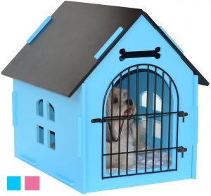 6. Royal Craft Wood Dog House Crate Indoor Kennel for Small Dogs