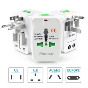 3. Insten Universal World Wide Travel Charger Adapter