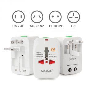 4. Maxah MX-UC1 Surge Protector travel adapter