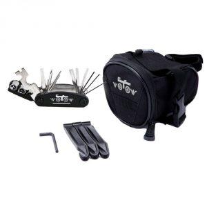 WOTOW Bicycle Repair Set Bike Outdoor Seat Saddle Bag Multi Function Tool Kit