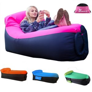 MAMBLE Inflatable Lounger Sofa Portable Sofa Bed
