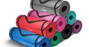 Sivan Health and Fitness Extra Thick NBR Comfort Yoga Mat
