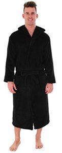Men's Bathrobe Simplicity-Hooded Kimono Robe