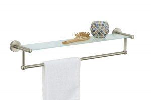 Organize It All Satin Nickel Towel Rack