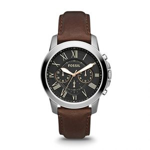 Fossil FS4813p Grant Chronograph Brown Leather Watch