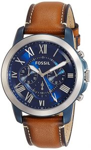 Fossil FS5151 Grant Chronograph Leather Watch