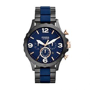 Fossil Men's JR1494 Nate Analog Display Analog Quartz Black Watch