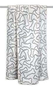 DII Bone Dry Soft, Plush, Warm Microfiber Dog Blanket
