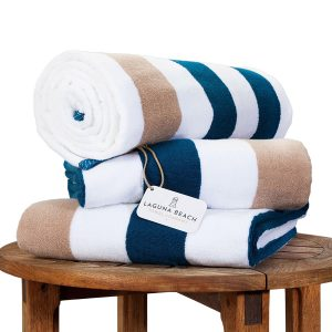 Laguna Beach Textile Co. Cabana Plush Beach Towel