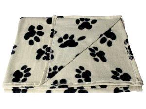 Bogo Brands Large Fleece Pet Blanket with Paw Print Pattern
