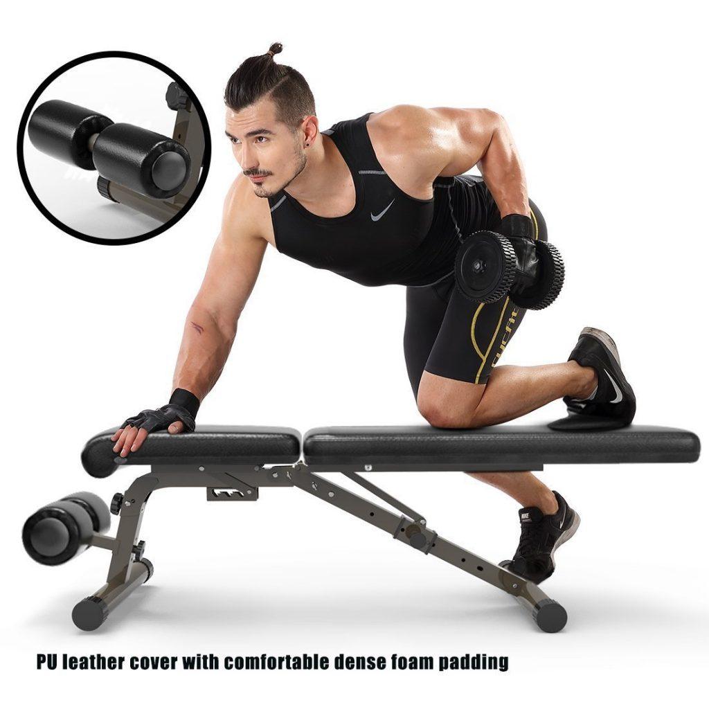 FEIERDUN Utility 882 lbs Adjustable Weight Bench