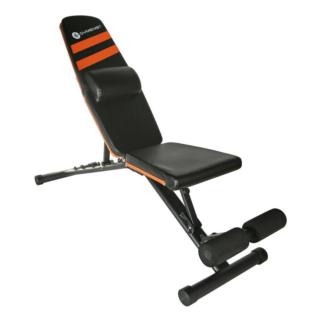 GYMENIST Exercise Adjustable and Foldable Weight Bench
