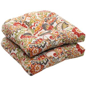 Perfect Pillow Outdoor Multicolored Modern Floral Seat Cushions