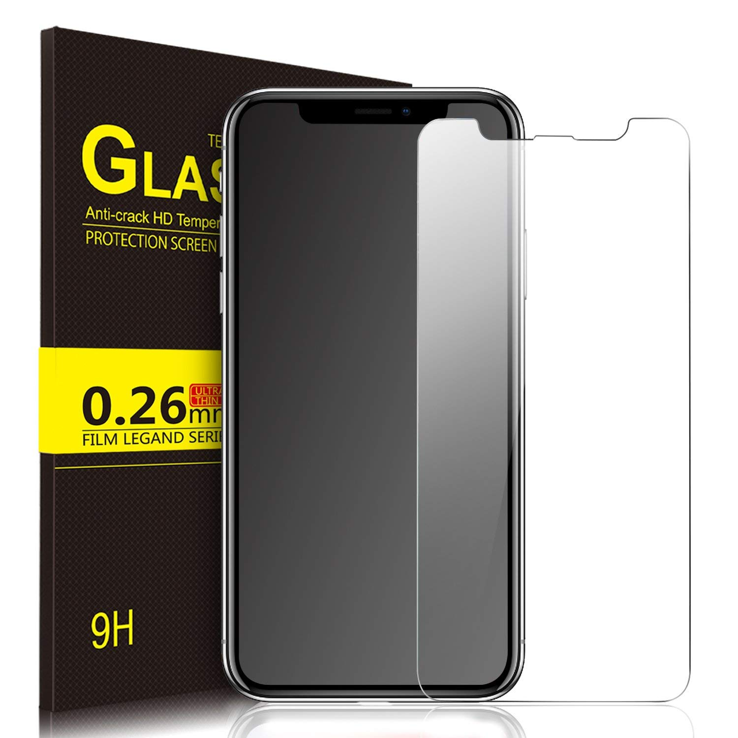 IVSO iPhone X Crystal Clarity Tempered-Glass Screen Protector (Clear)