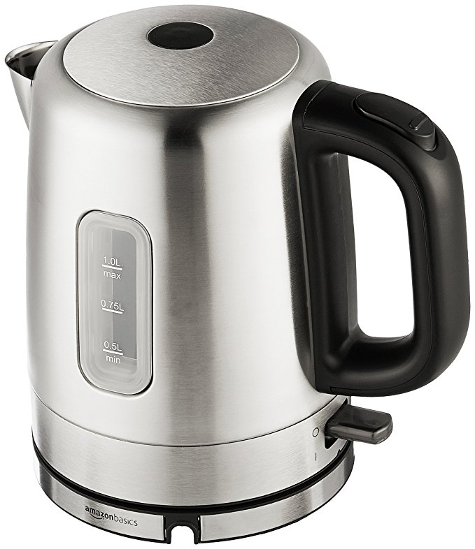 AmazonBasics Stainless Steel Electric Kettle Water Heater