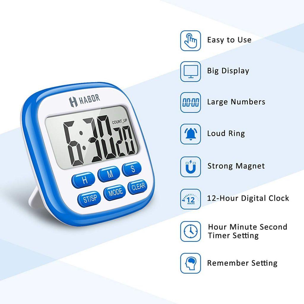 Habor Digital Strong Magnetic Back Timer