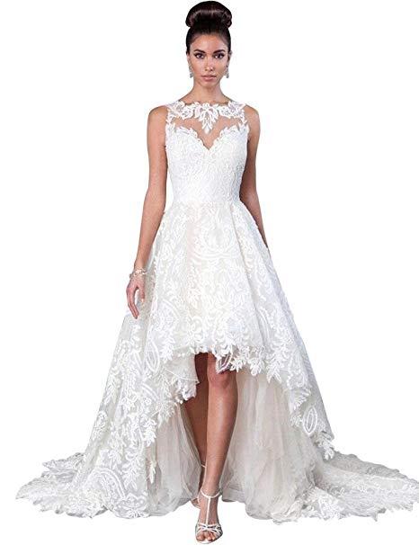 JoyVany Vintage 2019 Summer Beach Wedding Dress
