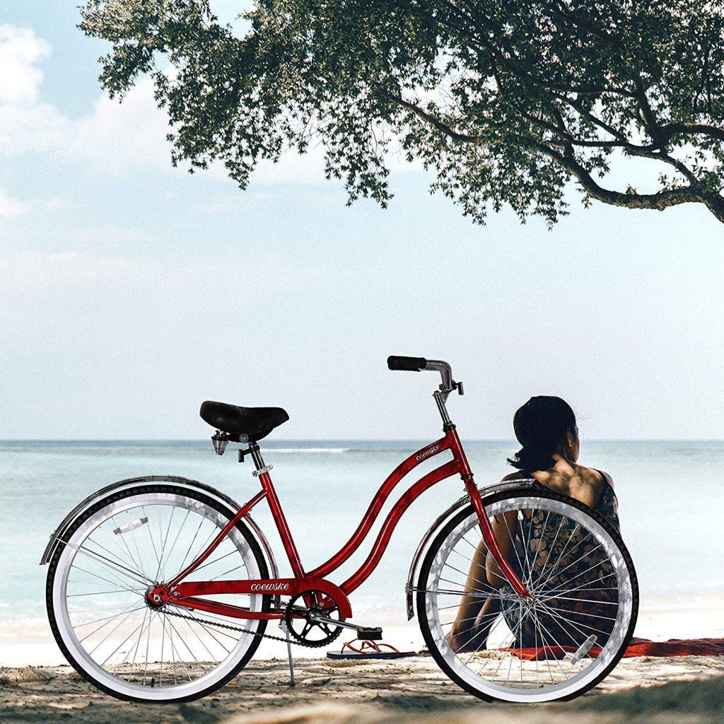 "COEWSKE 26"" Men Women's Beach Cruiser Bicycle"