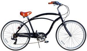 Fito Men's Marina Aluminum Alloy 7-Speed Beach Cruiser Bike