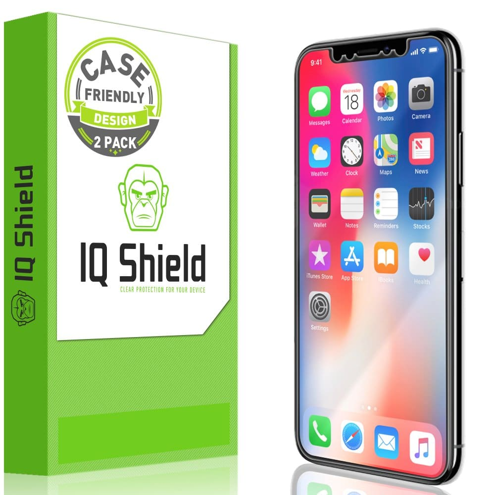 IQShield Screen Protector Compatible with iPhone X