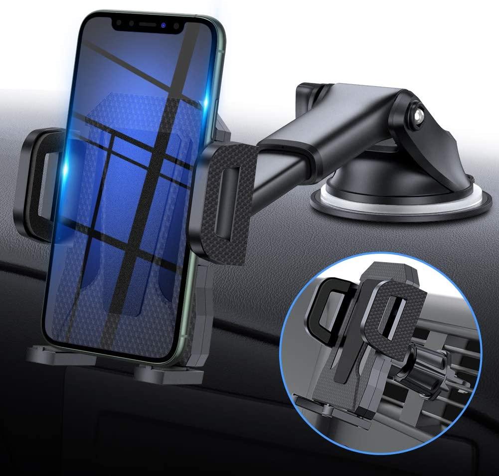 2-in-1 Mobile Phone Car Mount Holder