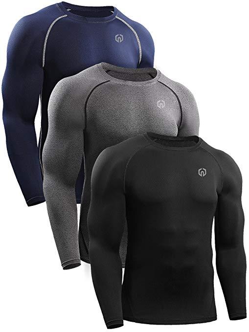 Neleus Men's 3 Pack Athletic Compression Sport