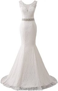 Changuan Women's Lace Wedding Dress Mermaid Bridal Gown