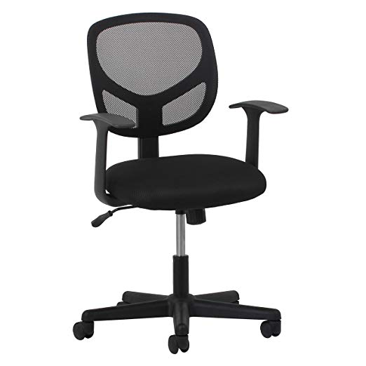 Essentials Swivel Back Mesh Chair with Armrests