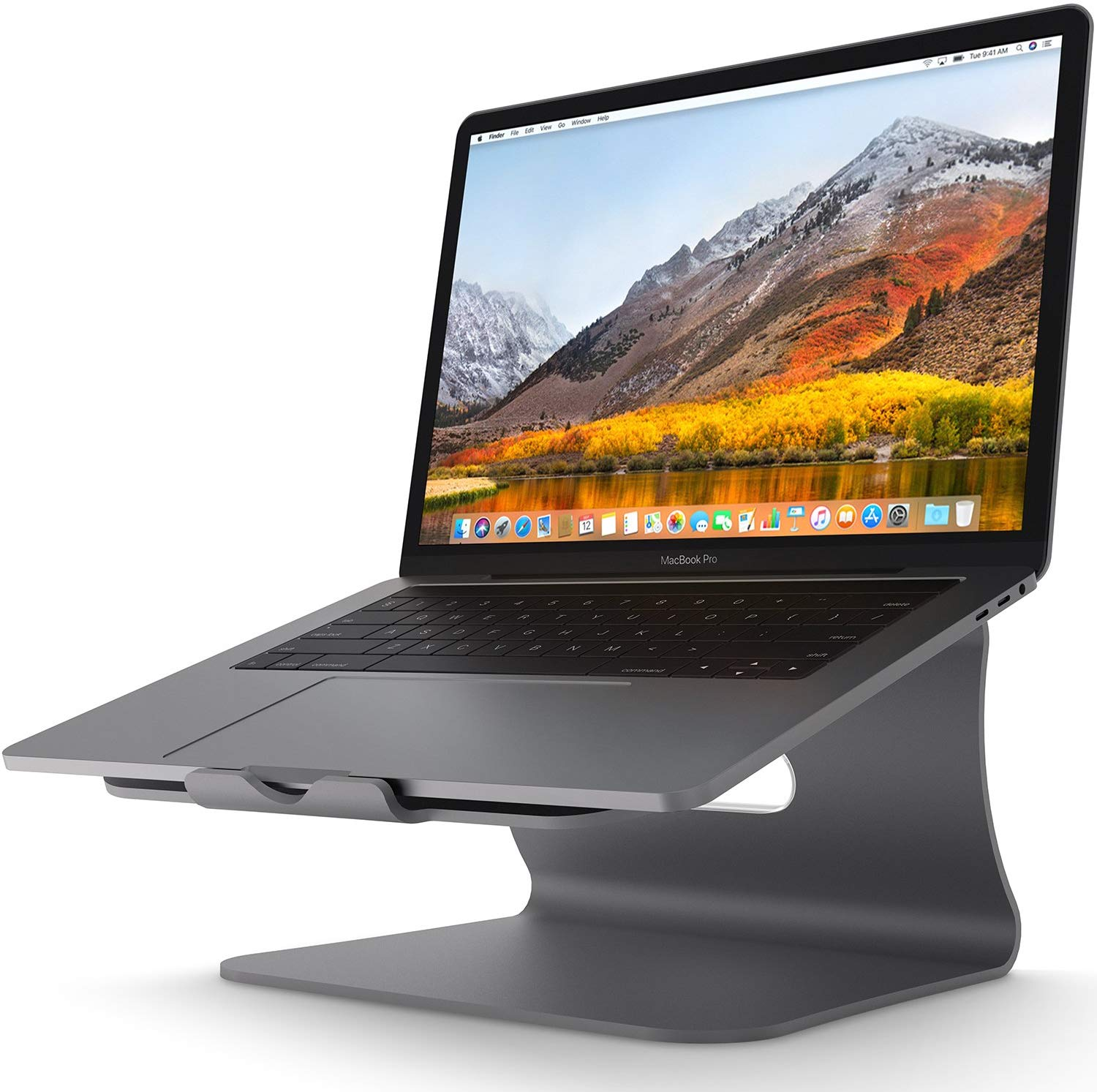 Laptop Stand - Bestand Aluminum Cooling Computer Stand: [Update Version] Stand, Holder for Apple MacBook Air, MacBook Pro, All Notebooks, Grey (Patented)