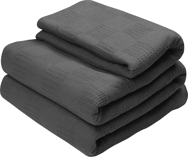 Utopia Bedding 100% Premium Woven Cotton Blanket