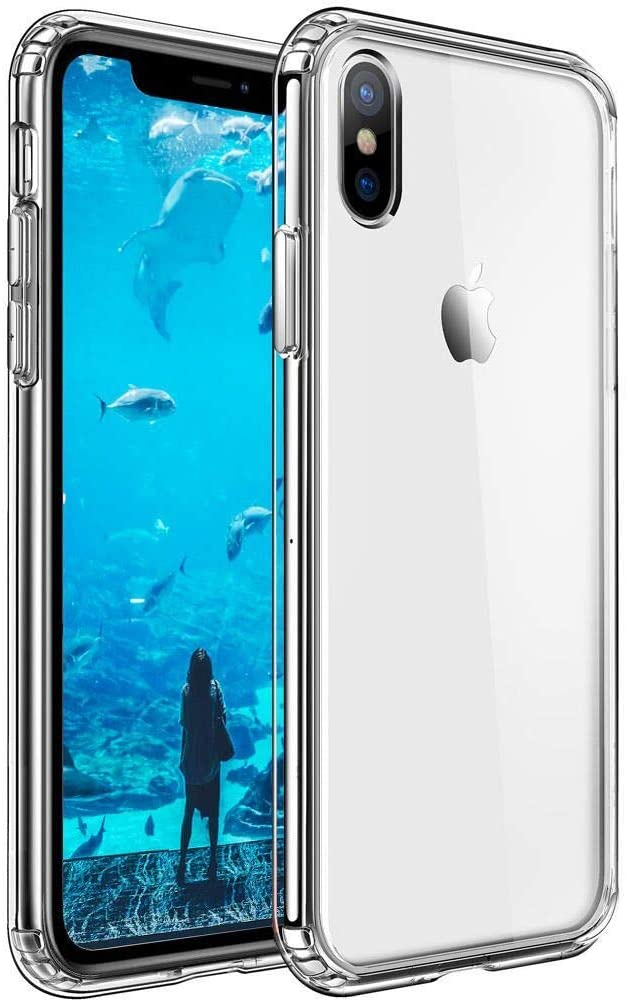 Mkeke Compatible with iPhone Xs Max Case, Clear Anti-Scratch Shock Absorption Cover Case iPhone X Max Case