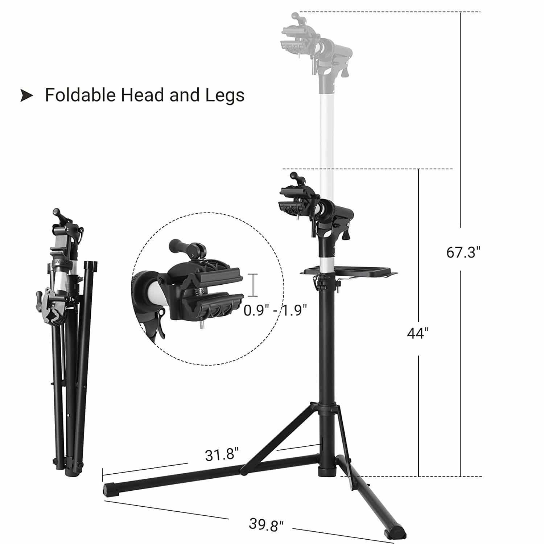 SONGMICS Bike Repair Stand Foldable Lightweight, for Bikes Maintenance