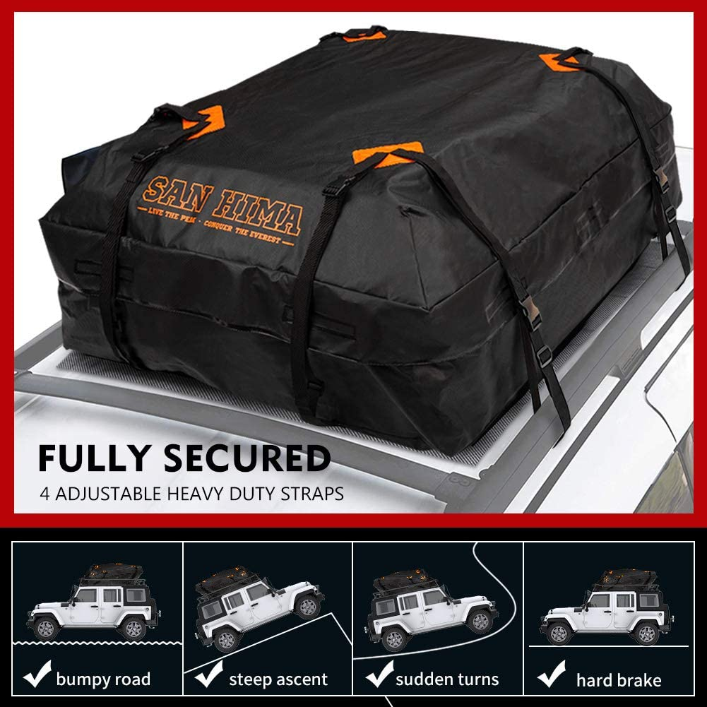 Fiery Red Roof Top Cargo Carrier 15 Cubic ft