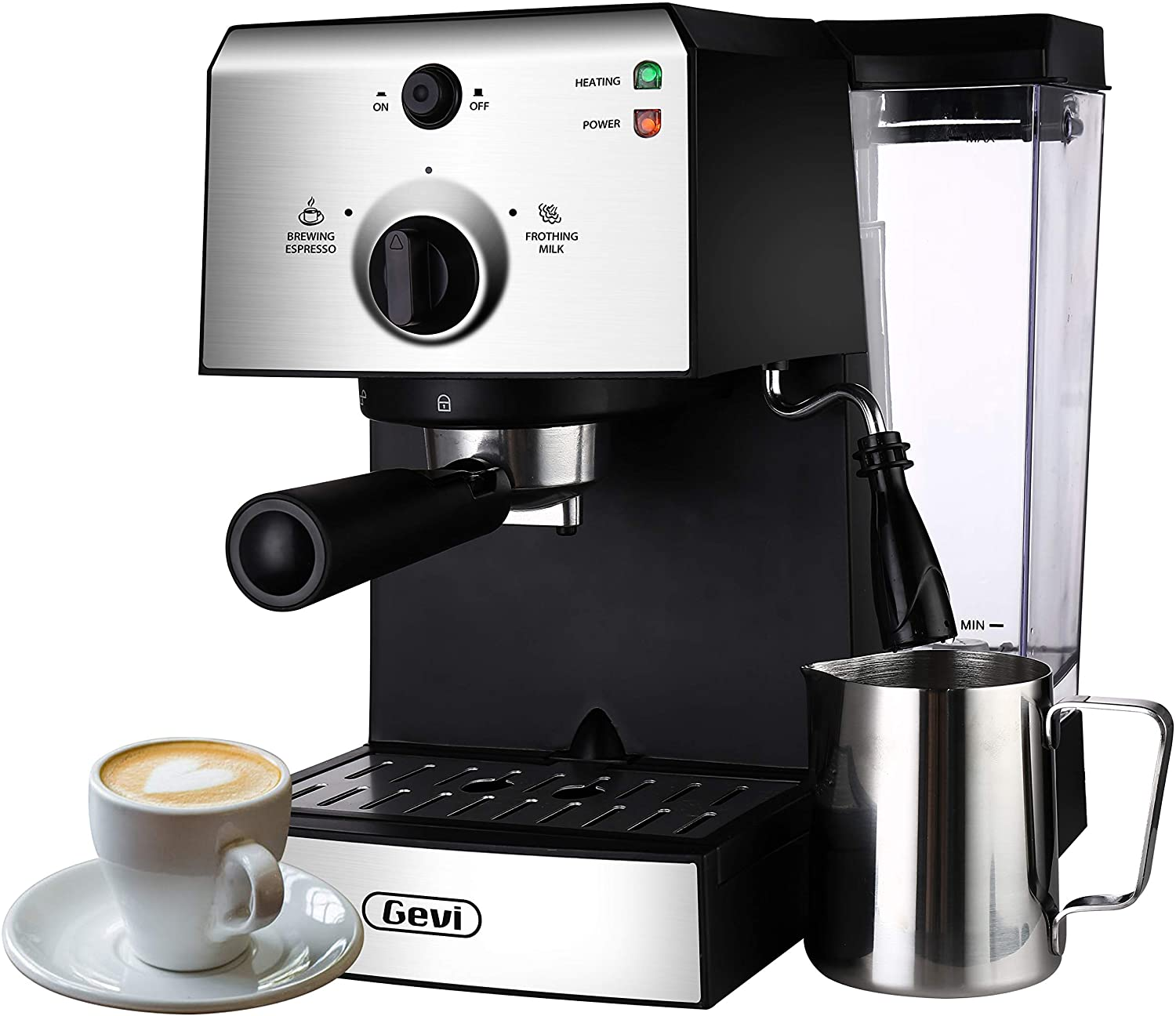 Espresso Machines 15 Bar Fast Heating Coffee Machine with Milk Frother Wand